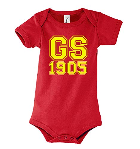 Youth Designz Baby Kurzarm Body Strampler Modell Galatasaray - Rot 6-12 Monate