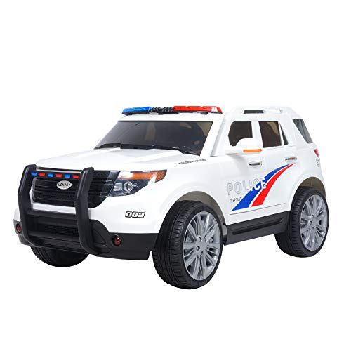 Uenjoy 12V Kids Police Ride on Car...