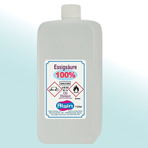 Algin Essigsäure 100% - 5x1 Liter Lebensmittelqualität