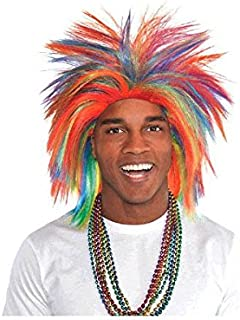 Amscan Crazy Party Wig Costume, Rainbow