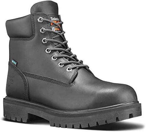 Timberland PRO Direct Attach Men s Black Soft Toe Slip Resistant Waterproof 6 Inch Boot 12 0 product image