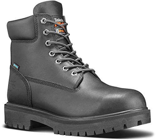 Timberland PRO Direct Attach Men's, Black, Soft Toe, Slip Resistant, Waterproof, 6 Inch Boot (10.5 M)