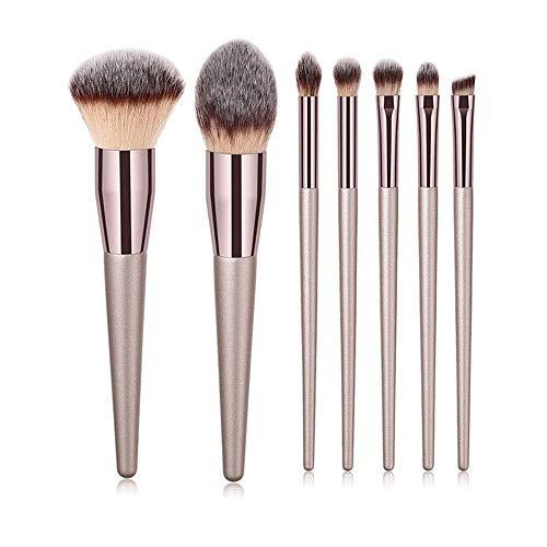 MEIMEIDA Maquilleur professionnel brosses blush poudre fond de teint fard à paupières fard à paupières sourcils eyeliner maquillage pour les lèvres pinceaux outils beauté, pinceau 7pcs xb hyu
