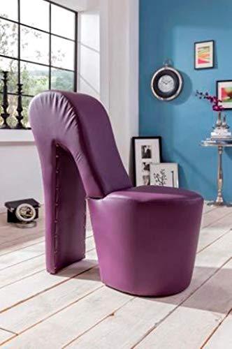 Generisch High Heel Schuhsessel 42x99x79cm Stuhl Designersessel mit Nieten (lila)