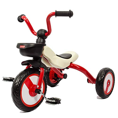 HYLH Dreirad Kinderdreirad, Kinder Trike 2-6 Leichtes Klapptrike Mit Pedalverstellbarem Sitz Lenker First Trike Roller, Section B