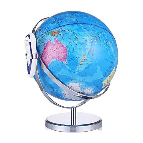 Voz de Lectura Globo con 32cm Grande HD Globo for Estudiantes de Primaria y Escuela Media Bola del Globo del Mundo de la Tierra Mapa de Rota