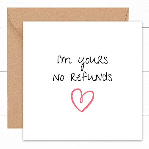 Tarjeta de aniversario de boda feliz | Tarjetas hechas a mano para marido, esposa, pareja prometido novio novio novia | Regalo para él | Gay lesbianas LGBT | 1er 2º 3º 4º año Ruby Golden | 14x14cm