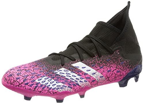 adidas Predator Freak .3 FG, Chaussure de Football Homme, Core Black FTWR White Shock Pink, 44 2/3 EU