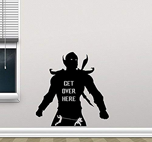 Mortal Kombat Scorpion Wall Decal Get Over Here Video Game Superhero Stencil Poster Comics Vinyl Sticker Movie Wall Art Kids Teen Boy Bedroom Decor Mural 189PS