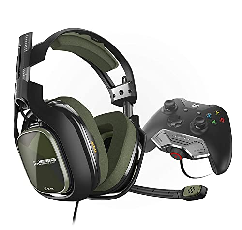 ASTRO Gaming A40 TR Headset w/MixAmp M80 for Xbox One, Mod Kit Compatible, Gaming Headset for Xbox One, PC - Bulk Packaging - Black/Olive