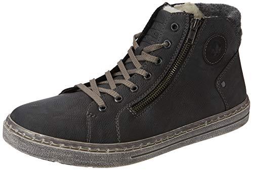 Rieker Herren 30921 Hohe Sneaker, Rauch Schwarz Granit 45, EU
