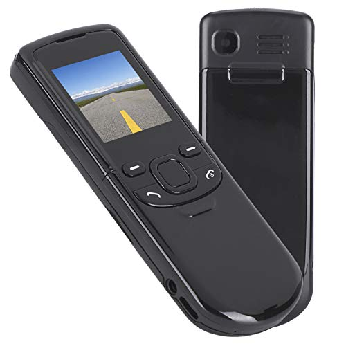 Teléfono móvil en Varios Idiomas, tamaño Compacto de 1,44 Pulgadas, Mini teléfono móvil, Ligero de 700 MAH para Personas Mayores Que operan con una Sola Mano(Black, Transparency)