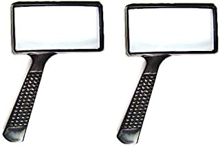 MAGNIFYING GLASS 4x Rectangular Lens -- TWO PACK by Harbor Freight