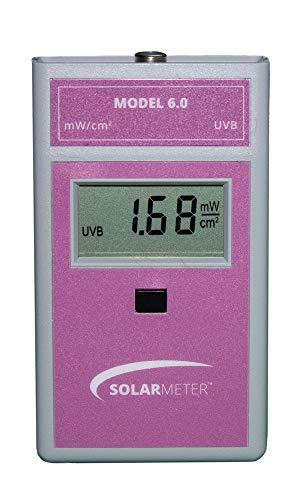 Solar Light Company, Inc Solarmeter Model 6.0 Standard UVB Meter - Measures 280-320nm with Range from 0-19.99 mW/cm² UVB, Pink