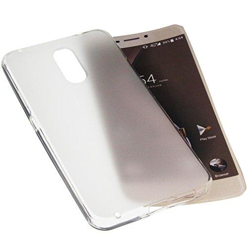 foto-kontor Tasche für Ulefone Gemini Gummi TPU Schutz Handytasche transparent weiß