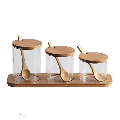 LT-TH Stainless Transparent Seasoning Rack Spice Pots Piece Seasoning Box Storage Container Condiment Jars Cruet With Cover Bathtub Accessories