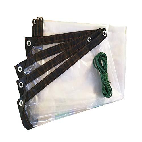 LRZLZY Lona Impermeable Lona Carpa Ventana Transparente Sello a Prueba de Viento de Aislamiento Tela de plástico, 23 Tamaños Respetuoso del Medio Ambiente (Color : Clear, Size : 2X2M)