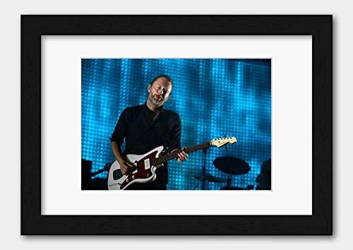 Radiohead - Thom Yorke Rod Laver Arena 2012 Poster 3 Black Frame A3 (29.7x42cm) White