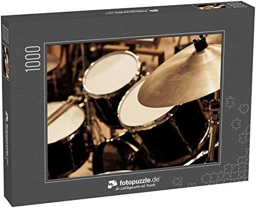 Puzzle 1000 Teile Detail eines Schlagzeuges - Klassische Puzzle, 1000 / 200 / 2000 Teile, edle Motiv-Schachtel, Fotopuzzle-Kollektion 'Musik'
