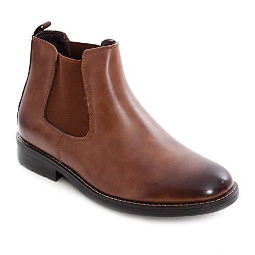 Toocool – Botas de hombre Chelsea Zapatos Beatles Polainas Anfibi Elegantes Y28 Marrón Size: 43 EU