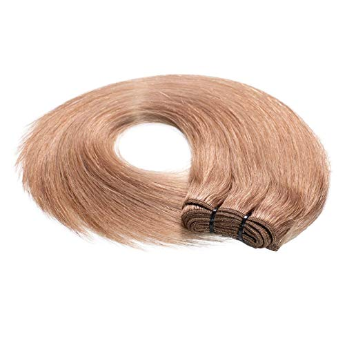 Just Beautiful Hair REMY Extensiones de cortina cosida pelo natural - 40cm, colore #12 miel rubia, liso