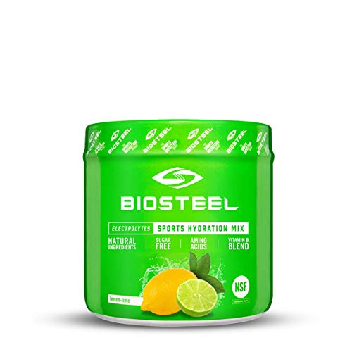 Biosteel High Performance Sports Drink Powder, Naturally Sweetened with Stevia, Lemon Lime, 140 Gram