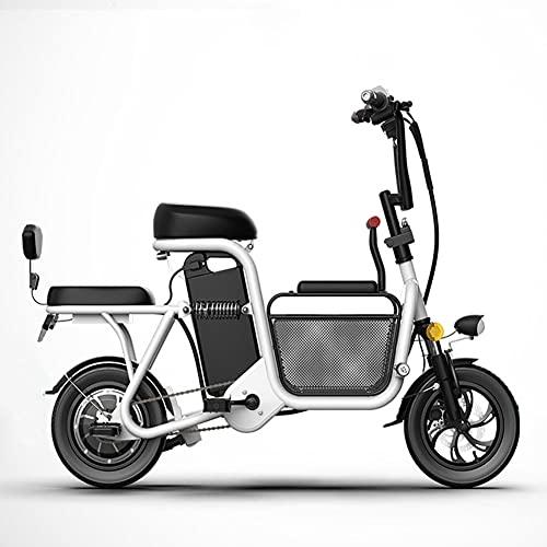 GKMM Scooter eléctrico automático, 2 Ruedas Bicicletas eléctricas, 48V 25km / h Mini Scooter eléctrico Plegable para Padres e Hijos con batería Desmontable
