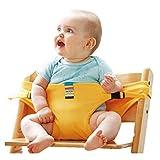 WGXQY Sicherheitsgurt Für Hochstuhl,Tragbarer Stuhl Gürtel Für Baby Stuhl-Sitzgurt,Faltbar Und Tragbar Rot,Gelb