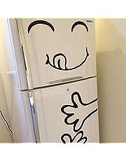 ملصقات جدارية ظريفة بشكل وجه يوضع على الثلاجة
