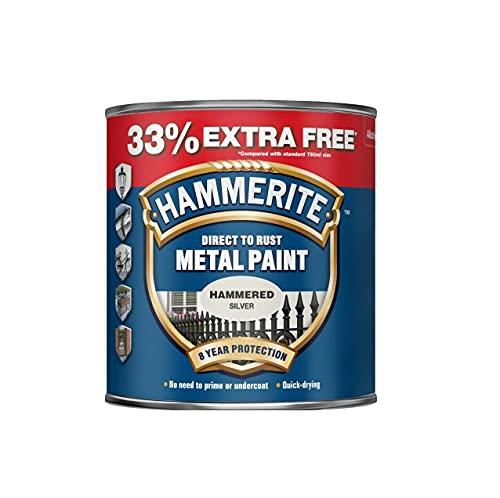 Pintura metálica directa a la oxidación – plata martillada – 750 ml +33% extra libre