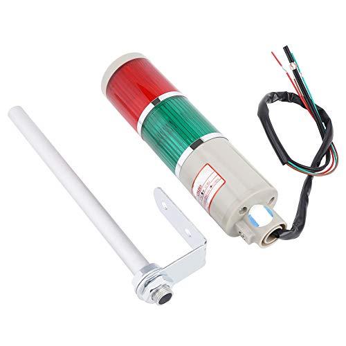 Luz de señal industrial, 220 V LED rojo/verde Advertencia de equipo de emergencia Bombilla de iluminación Lámpara de baliza, utilizada como luz de advertencia de equipo mecánico