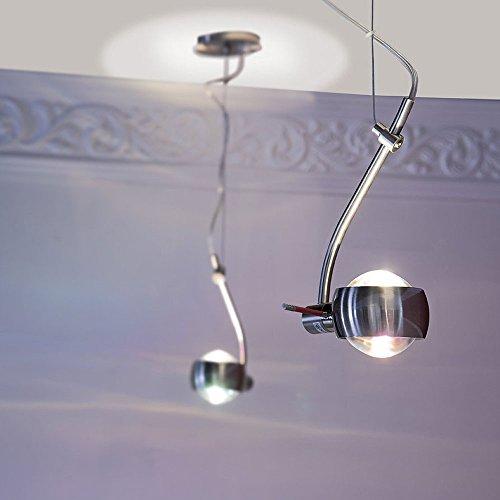 s.LUCE Beam Pendelleuchte mit Glaslinsen drehbare Hängeleuchte elegante Pendellampe mit Lichteffekte Wohnzimmerleuchte Esszimmer