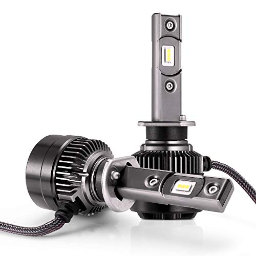 LED Bombillas para Coche Faros Delanteros - 1 par, AUTLEAD H1 Luces Altas/Bajas, Luz Antiniebla, CSP 70W 7200LM, Blanco Frío de 6500K, Kit de Conversión Impermeable