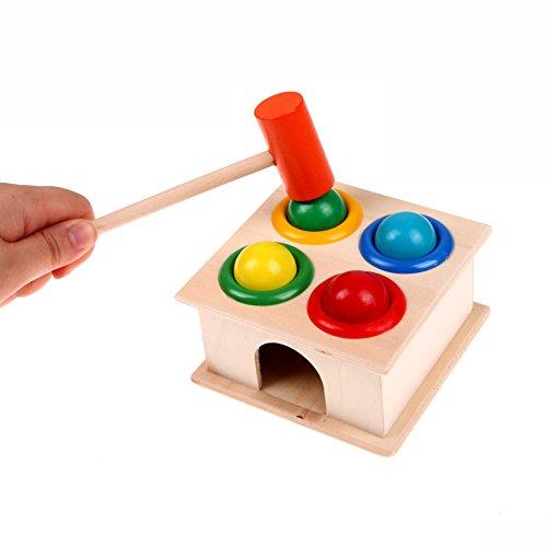 Toyshine Wooden Hammer Case Toy for Kids Pounding Bench 4 B