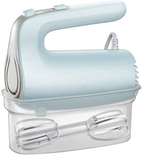 XUERUIGANG Miscelatore Multifunzione Mini Alimentatore Elettrico 5 velocità Palmare Egg Beater Beater Whisk Kitchen Food Processor Home Cooking Tool withStorage Box (Blue 125W)