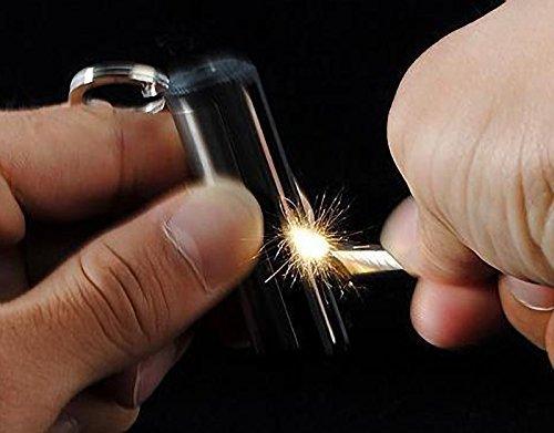 TO_GOO Neues kreatives Design Silber Dauerfeuerzeug Wasserdichte Schlüsselanhänger Feuerzeug