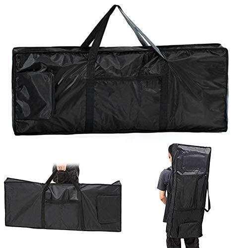 Custodia/zaino per pianola a 61 tasti, impermeabile, nero, borsa da viaggio