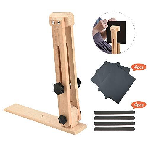 InLoveArts Leder nähen Werkzeug Holz Halteclip Behandlungen Crafts Holz Halteclip Behandlungen Crafts DIY Nähen Schnürsystem Nähkloben Nähpferd Basic zum festhalten Holz Leder nähen Werkzeug