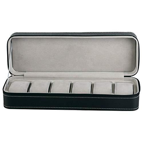 Logo Black Watch Box Portable Travel Watch Zipper Case Watches Storage Box (Style : 1)