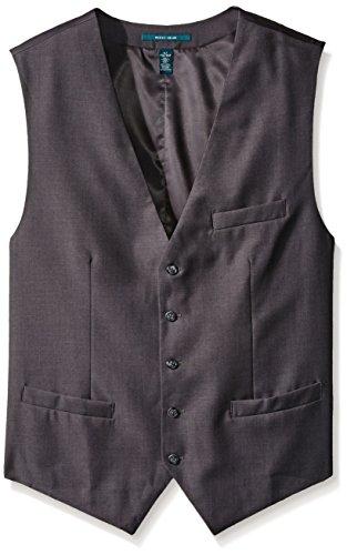 Perry Ellis Men's Big-Tall Solid Vest, Charcoal Heather, 3X