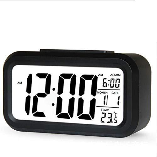 Smart Digitale wekker snooze, minuten Digitale wekker Met extra groot display snooze Datum temperatuur koetsklok voor kinderen studenten en volwassenen