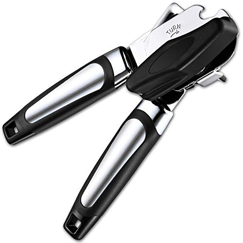 Can Opener Strongest Heaviest Duty Best Jar Opener amp Tin Opener Manual Good Grips Antislip Hand Grip Stainless Steel Sharp Blade Ergonomic and Easy to Use with Large Turn Knob