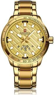 Naviforce NF9090 Fashion Men Quart Watch Luxury Stainless Steel - Gold