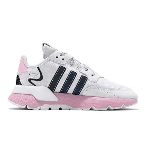 Adidas Nite Jogger W - Zapatillas deportivas para mujer, Blanco, 38 2/3 EU