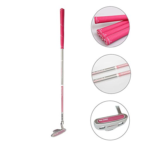 Acstar Junior Golf Putter Stainless Steel Kids Putter Right Handed for Kids Ages 3-5 (Pink, 25