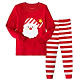 Tphon Girls Boys Christmas Outfit Pajamas Toddler Boy Kids Holiday Pajamas Set Santa PJS Winter Sleepwear(6Y, Red)