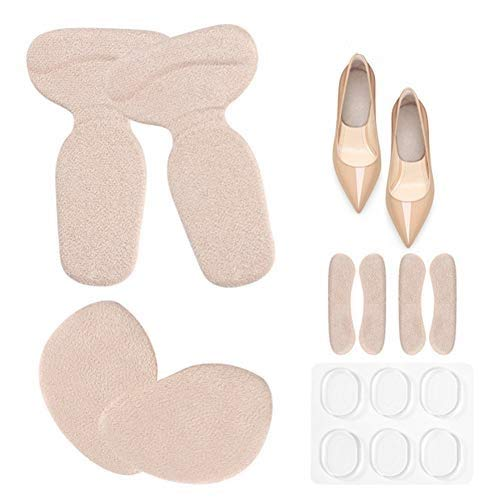 Hoge hakken inlegzolen gel metatarsale pads, bal van voet kussen zelfklevende anti-slip invoert voering voor schoenen te groot en pijn verlichting, voorkomen blaren, 14 stks kit
