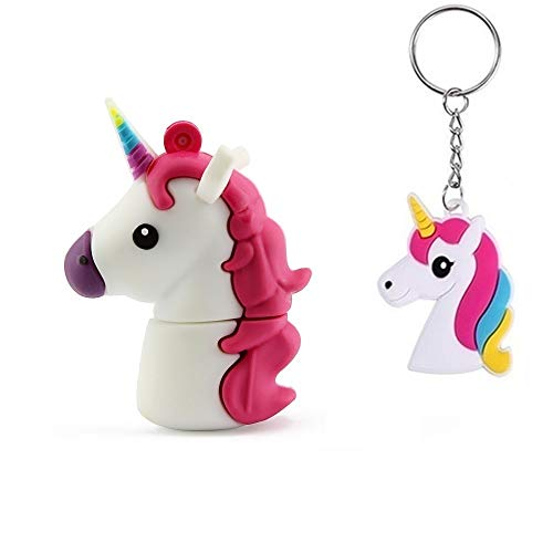 LYNNEO chiavetta USB 2.0 PenDrive 32GB Flash Drive favoloso animale bianco unicorno bambini
