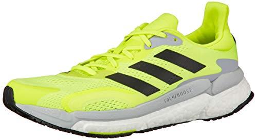 adidas Boost 21 M, Zapatillas para Correr Hombre, Solar Yellow Core Black Halo Silver, 40 2/3 EU