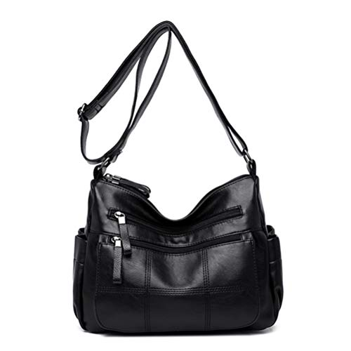 Damen Umhängetasche Designer Leder Schultertasche Große Schultertasche Multi-Pocket Shopper Tasche...